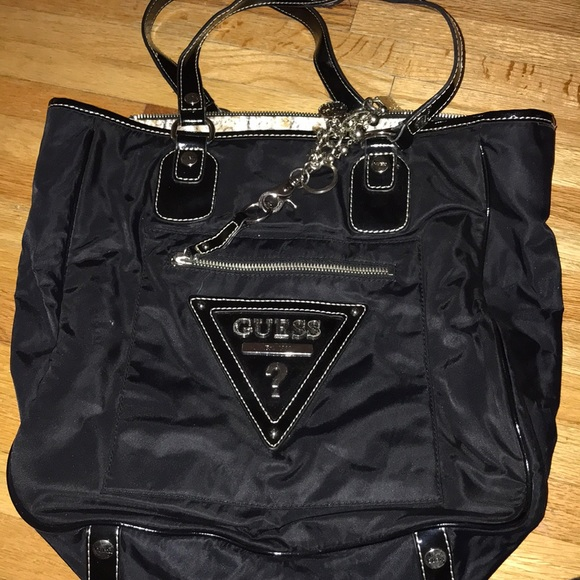 849fe6c77320b Vintage Black Guess Tote Bag